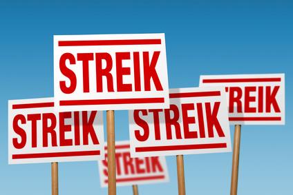 Arbeitskampf, Streik, Warnstreik