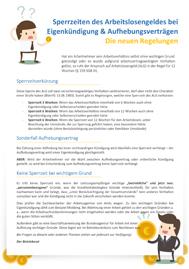 Was gelten für Sperrzeiten beim Arbeitslosengeld? Ein informativer Musteraushang zum Thema für Betriebsräte und Personalräte