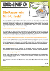 Musteraushang Betriebsräte Thema Pause August 2016