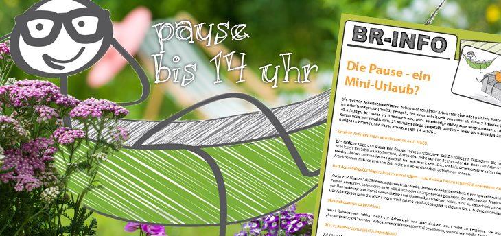 Musteraushang für Betriebsräte und Personalräte zum Thema Pausen, ArbZG