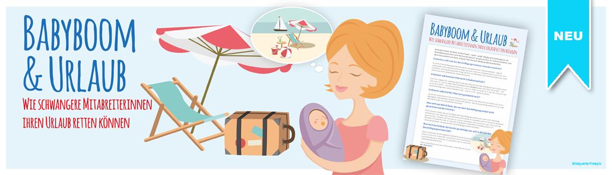 Musteraushang Babyboom & Urlaub