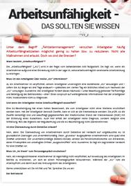 Arbeitsunfähigkeit - Das sollten Sie wissen - Musteraushang zum freien Download für Betriebsräte und Personalräte