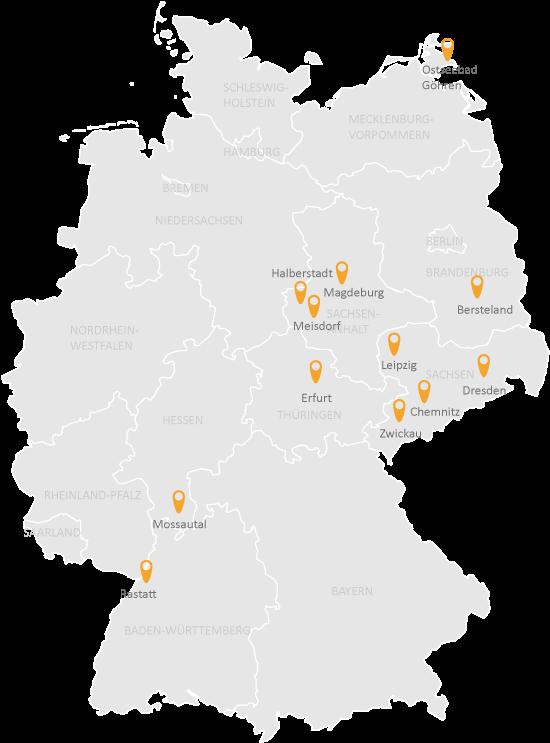 Seminare Standorte 2018 K&K Bildungsmanufaktur