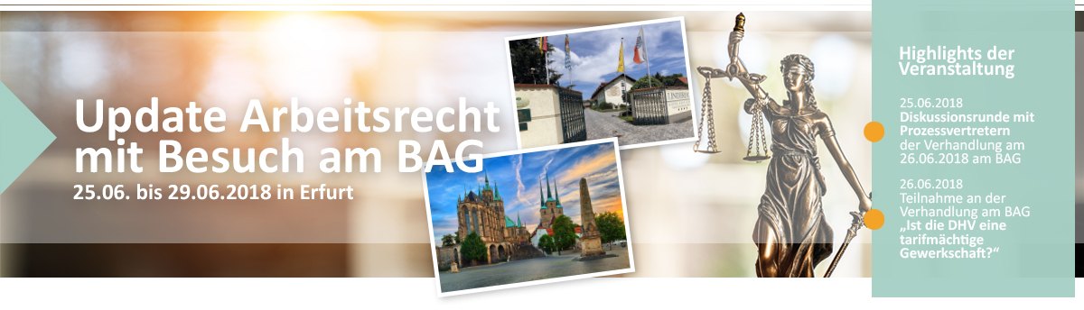 Update Arbeitsrecht Highlight BAG Verhandlung DHV Betriebsrat DRK