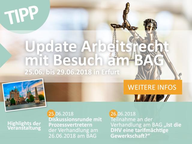 Update Arbeitsrecht PopUp