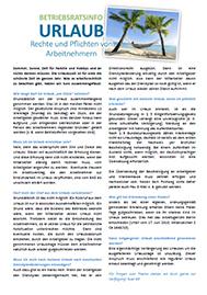 Urlaub - Pflichten und Rechte von Arbeitnehmern - Musteraushang zum Download als PDF oder Word