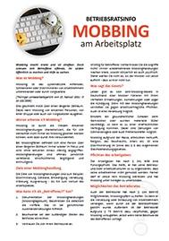 Musteraushang Mobbing am Arbeitsplatz Information und freier Download für Betriebsräte und Personalräte