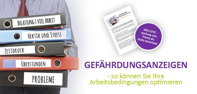 Beitrag und Musteraushang zum für Betriebsräte und Personalräte Thema Gefährdungsanzeige