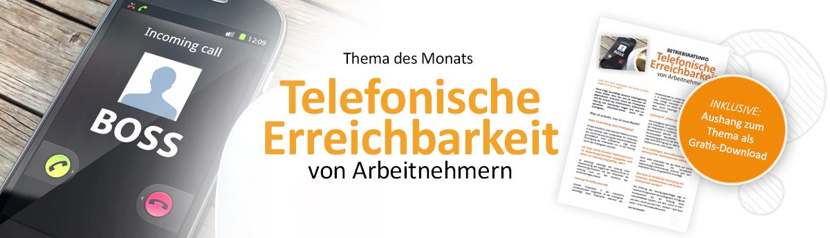 Weiterleitung zum Musteraushnag und Beitrag telefonische Erreichbarkeit von Arbeitnehmern klicken um uden beitrag zu lesen