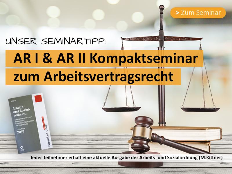 Kompaktesminar zu den Grundlagen des Arbeitsrechtes für Betriebsräte und Personalräte hier klicken für mehr Informationen