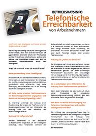 Telefonische Erreichbarkeit von Arbeitnehmern_Musteraushang für Betriebsrat und Personalrat