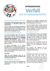 Musteraushang Verfall von Urlaubsansprüchen_Information und freier Download für Betriebsräte und Personalräte