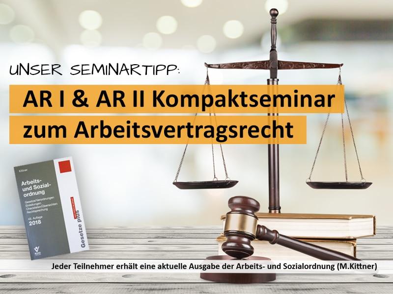Kompaktesminar zu den Grundlagen des Arbeitsrechtes für Betriebsräte und Personalräte