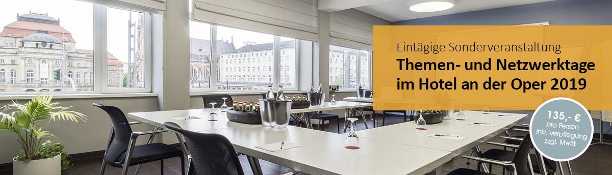 Eintägige Sonderveranstaltungen - Themen- und Netzwerktage für Betriebsräte und Personalräte - im Hotel an der Oper in Chemnitz