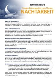 Musteraushang für Betriebsräte und Personalräte_Fragen und Antworten zum Thema Nachtarbeit