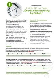 Musteraushang für Betriebsräte und Personalräte_Aktuelles Urteil des BAG - Überstundenvergütung bei Teilzeit