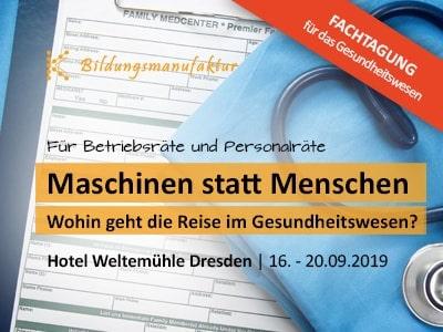 Seminarempfehlung Fachtagung Personal - die Fachtagung für Betriebsräte und Personalräte aus dem Gesundheitswesen