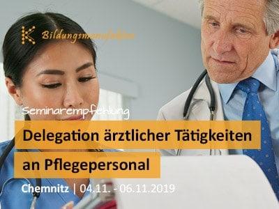 """Spezialseminar für das Gesundheitswesen """"Delegation ärtzlicher Tätigkeiten an Pflegepersonal"""""""