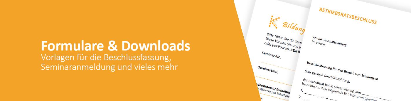 Formulare und Downloads für Betriebsräte, JAV, SBV und Personalräte