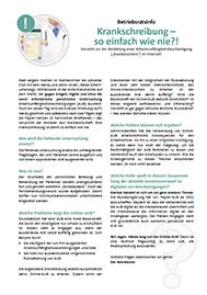 Krankenschein per WhatsApp und Co. - Top oder Flop - Musteraushang für den Betriebsrat und Personalrat