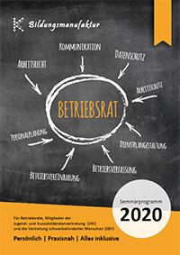 Seminarprogramm 2020 für Betriebsräte, JAV und SBV