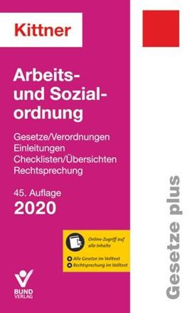 Arbeits- und Sozialordnung Kittner 2019