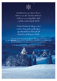 Weihnachtsgrüße für die Mitarbeiter vom Betriebsrat und Personalrat 2020/2021 - Motiv Schnee