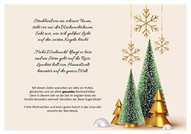 Weihnachtsgrüße für die Mitarbeiter vom Betriebsrat und Personalrat 2020/2021 - Motiv Gold