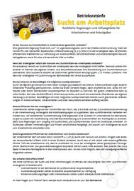 Musteraushang Sucht am Arbeitsplatz - Thema des Monats für Betriebsräte und Personalräte - inklusive Musteraushang