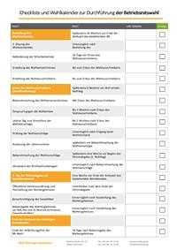 Checkliste für die Durchführung der Betriebsratswahl Termine und Fristen