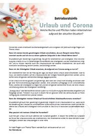 Urlaub und Corona - Thema des Monats für Betriebsräte und Personalräte - inklusive Musteraushang