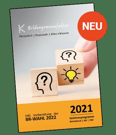 K&K Seminarplan 2021 - alle kommenden Seminartermine für Betriebsräte, JAV und SBV