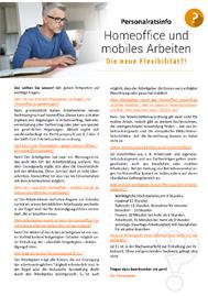 Aushang für Betriebsräte und Personalräte zum Thema Homeoffice und mobiles Arbeiten