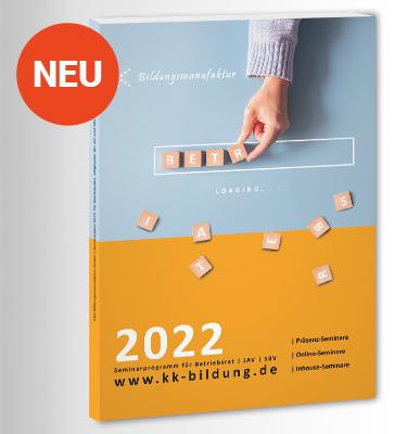 Seminarplan 2022 für Betriebsräte, JAV und SBV 2022